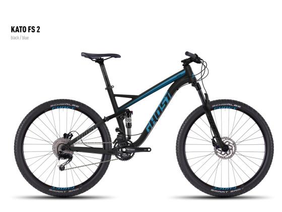Mountainbike Ghost Kato FS 2 black/blue 2016