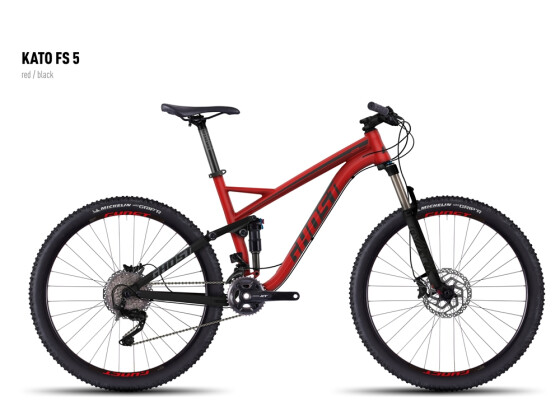 Mountainbike Ghost Kato FS 5 red/black 2016