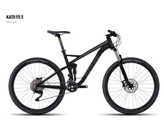 Mountainbike Ghost Kato FS 5 black/gray 2016