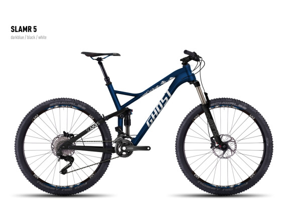 Mountainbike Ghost SLAMR 5 darkblue/black/white 2016