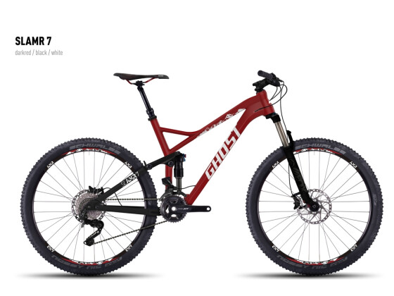 Mountainbike Ghost SLAMR 7 darkred/black/white 2016