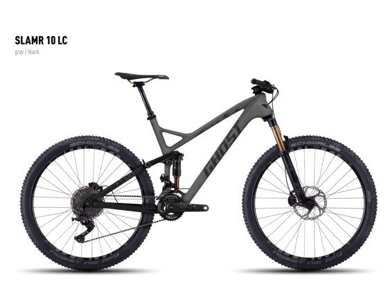 Mountainbike Ghost SLAMR 10 LC gray/black 2016