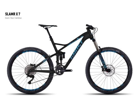 Mountainbike Ghost SLAMR X 7 black/blue/darkblue 2016