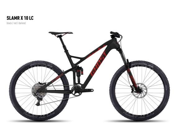 Mountainbike Ghost SLAMR X 10 LC black/red/darkred 2016