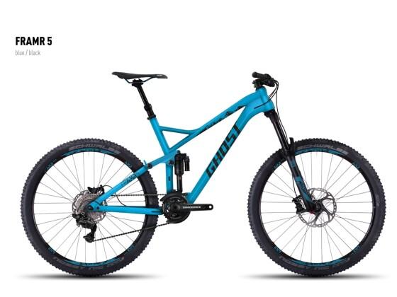 Mountainbike Ghost FRAMR 5 blue/black 2016