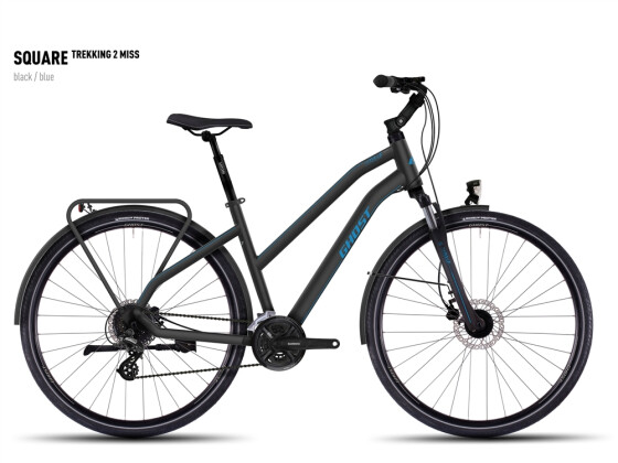 Trekkingbike Ghost Square Tekking 2 Miss black/blue 2016