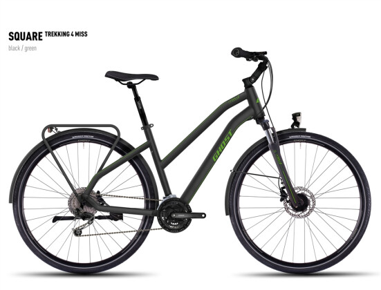 Trekkingbike Ghost Square Trekking 4 Miss black/green 2016