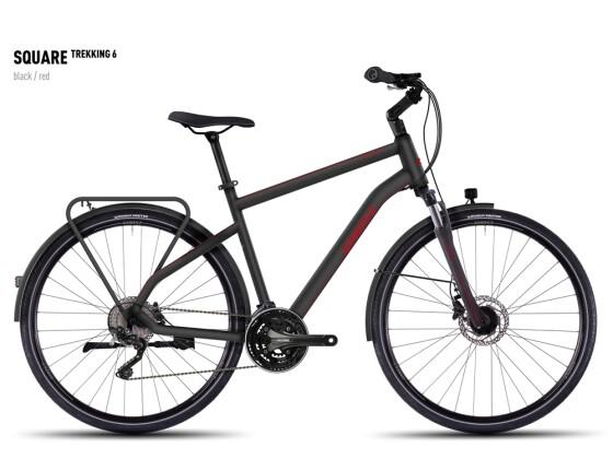Trekkingbike Ghost Square Trekking 6  black/red 2016