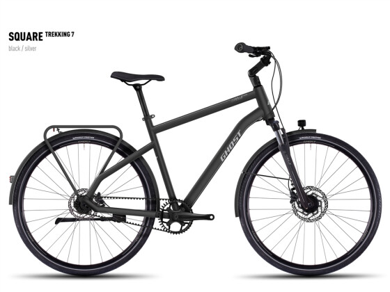 Trekkingbike Ghost Square Trekking 7  black/silver 2016