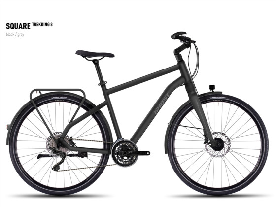 Trekkingbike Ghost Square Trekking 8  black/gray 2016