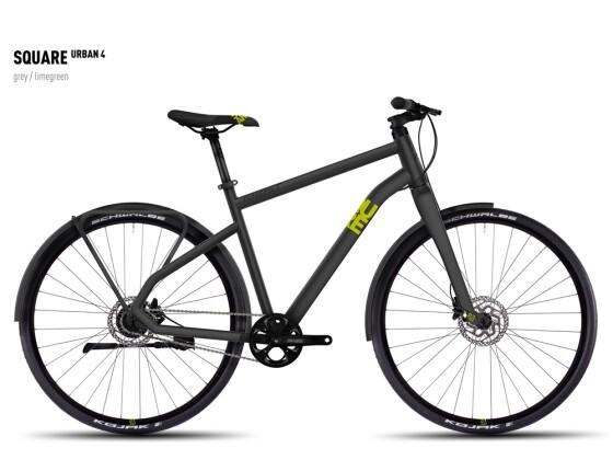 Mountainbike Ghost Square Urban 4 gray/limegreen 2016