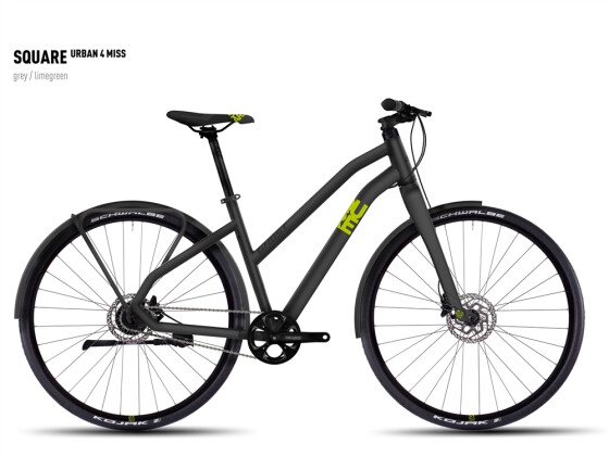 Mountainbike Ghost Square Urban 4 Miss gray/limegreen 2016
