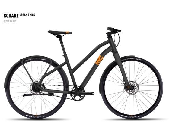 Mountainbike Ghost Square Urban 6 Miss gray/orange 2016