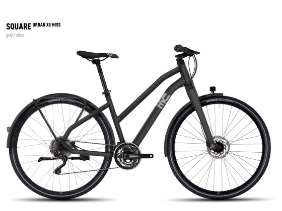 Mountainbike Ghost Square Urban X 8 Miss gray/silver 2016