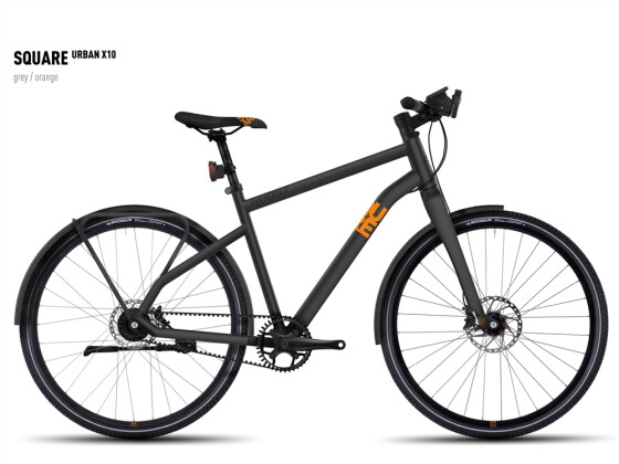 Mountainbike Ghost Square Urban X 10 gray/orange 2016