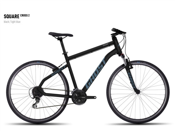 Crossbike Ghost Square Cross 2 black/lightblue 2016