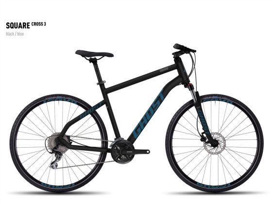 Crossbike Ghost Square Cross 3 black/blue 2016