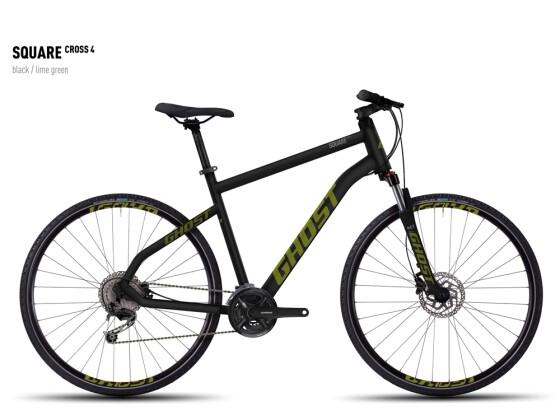 Crossbike Ghost Square Cross 4 black/limegreen 2016