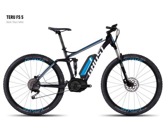 E-Bike Ghost Teru FS 5 black/blue/white 2016