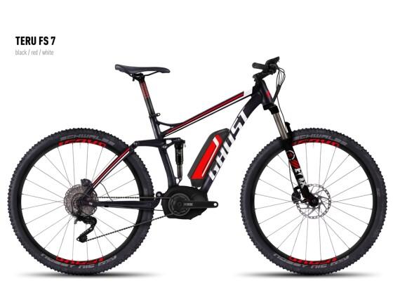 E-Bike Ghost Teru FS 7 black/red/white 2016