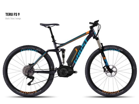 E-Bike Ghost Teru FS 9 black/blue/orange 2016