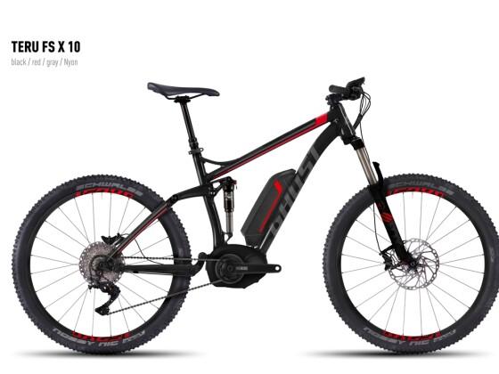 E-Bike Ghost Teru FS X 10 black/red/gray Nyon 2016