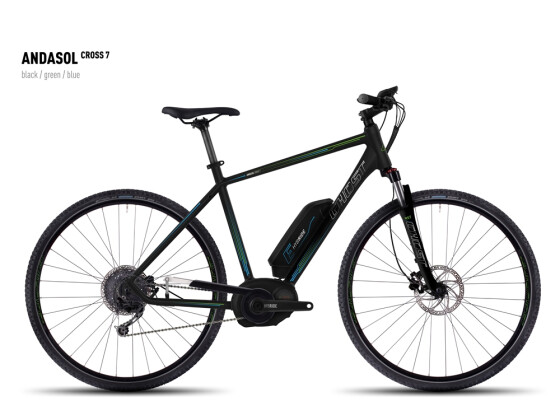 E-Bike Ghost Andasol Cross 7 black/green/blue 2016