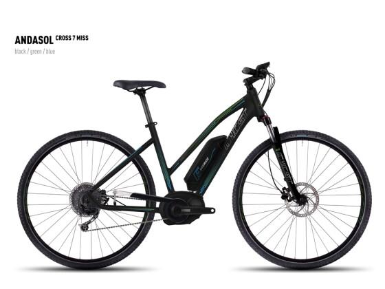 E-Bike Ghost Andasol Cross 7 Miss black/green/blue 2016