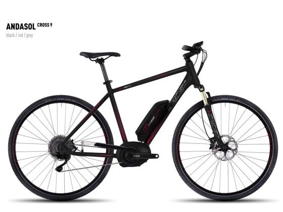 E-Bike Ghost Andasol Cross 9 black/red/gray 2016