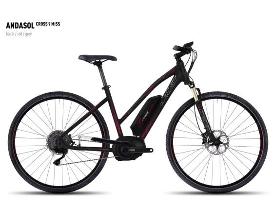 E-Bike Ghost Andasol Cross 9 Miss black/red/gray 2016