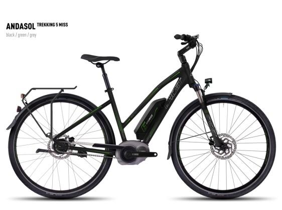 E-Bike Ghost Andasol Trekking 5 Miss black/green/gray 2016