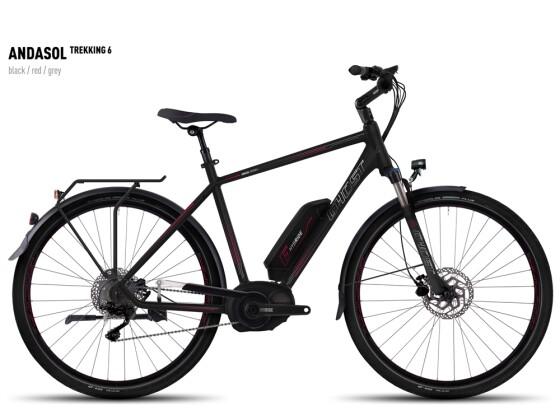 E-Bike Ghost Andasol Trekking 6 black/red/gray 2016