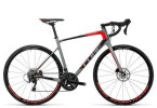 Rennrad Cube Attain GTC Pro Disc grey´n´flashred