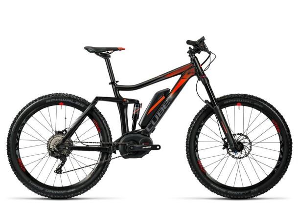 E-Bike Cube Stereo Hybrid 140 HPA Pro 400 27.5 black/flashred 2016