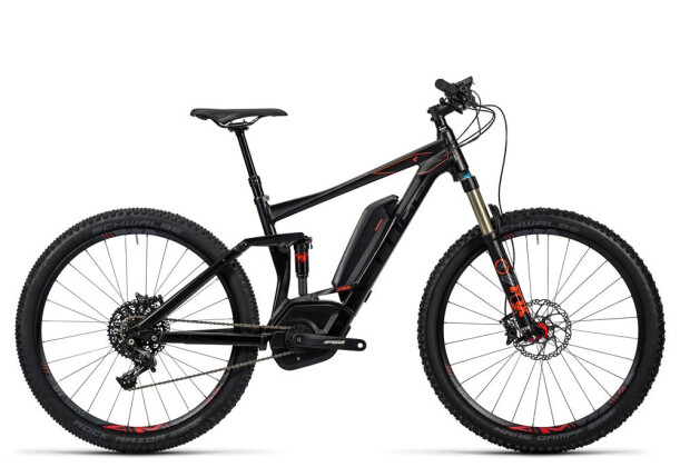 E-Bike Cube Stereo Hybrid 120 HPA SL 500 black´n´flashred 2016