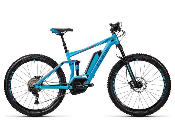 E-Bike Cube Sting WLS Hybrid 120 SL 500 27.5 reefblue/flashred 2016