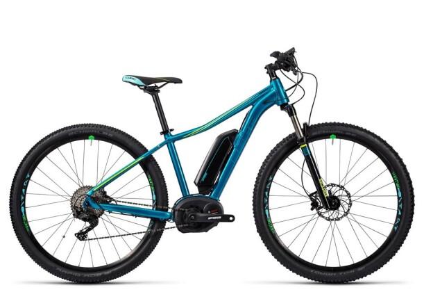 E-Bike Cube Access WLS Hybrid Race 400 bermuda blue/mint/kiwi 2016
