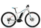 E-Bike Cube Access WLS Hybrid Pro 400 white´n´blue´n´flashred