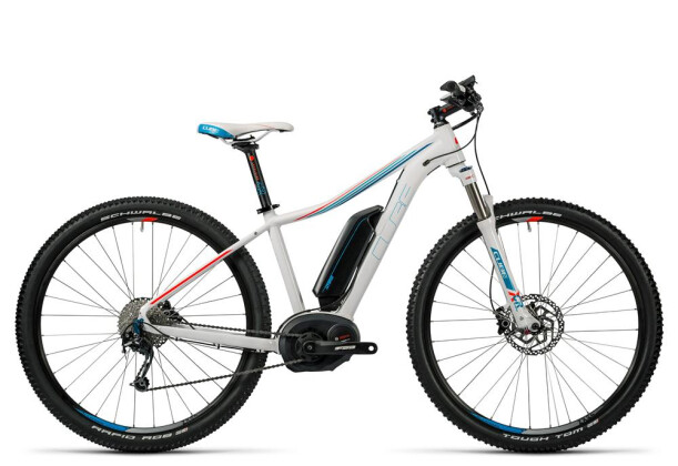 E-Bike Cube Access WLS Hybrid Pro 400 white´n´blue´n´flashred 2016