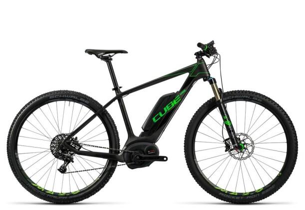 E-Bike Cube Elite Hybrid C:62 SL 500 29 black´n´flashgreen 2016