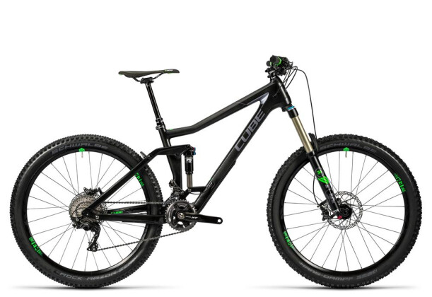 Mountainbike Cube Stereo 160 C:62 Race 27.5 carbon´n´green 2016