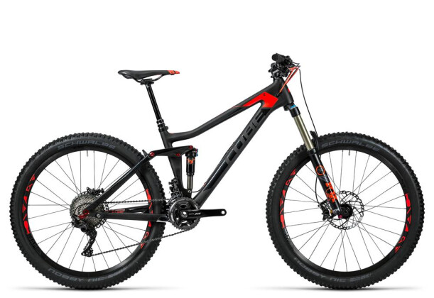 Mountainbike Cube Stereo 140 C:62 Race 27.5 carbon´n´flashred 2016