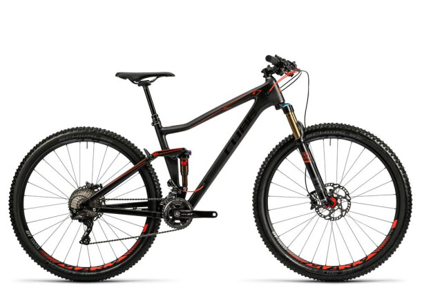 Mountainbike Cube Stereo 120 HPC SL carbon´n´flashred 2016