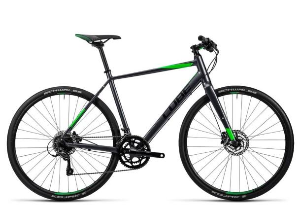 Crossbike Cube SL Road Pro grey black flashgreen 2016