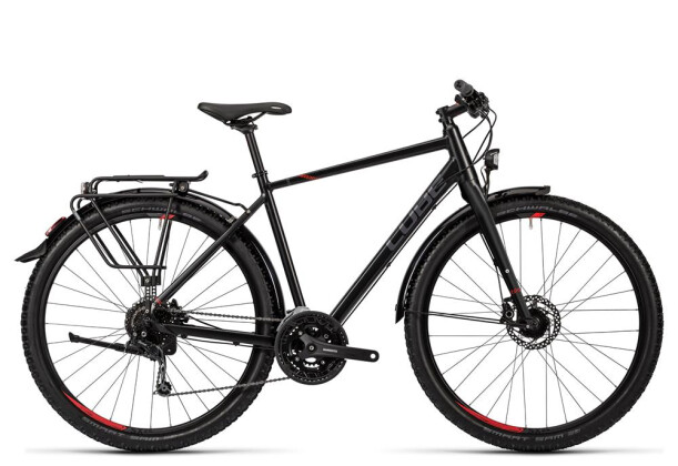 Trekkingbike Cube Travel black grey red 2016