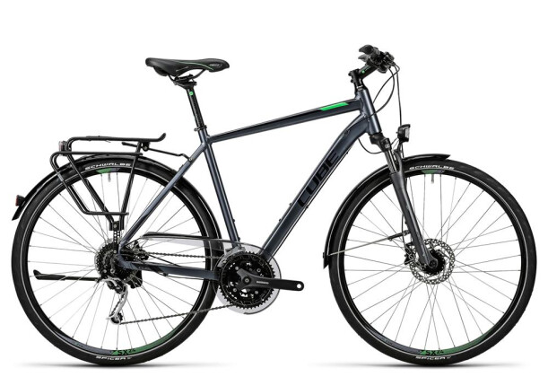 Trekkingbike Cube Touring Exc grey black flashgreen 2016