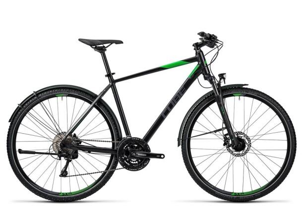 Trekkingbike Cube Nature Allroad black flashgreen grey 2016