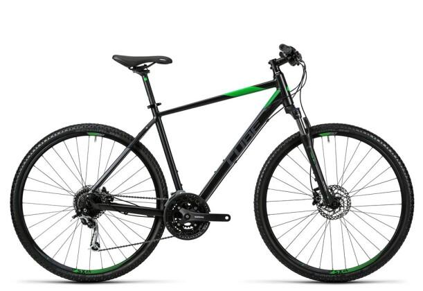 Crossbike Cube Nature black flashgreen grey 2016
