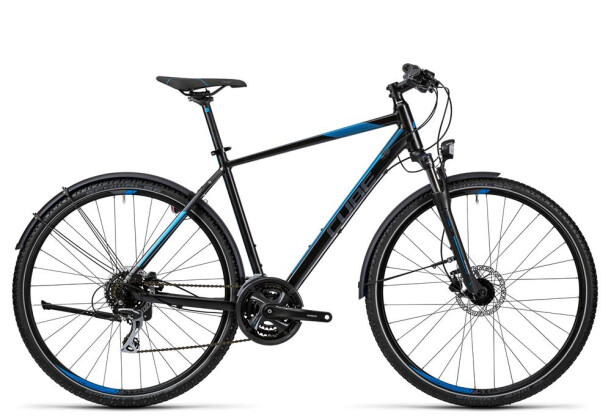 Trekkingbike Cube Curve Allroad black grey blue 2016
