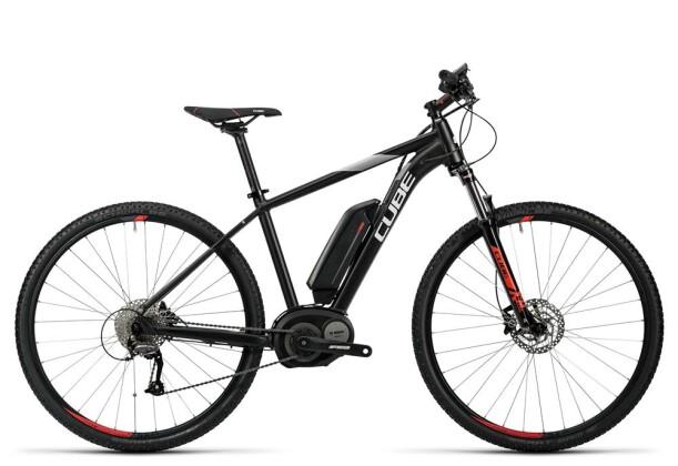E-Bike Cube Cross Hybrid Pro 400 black´n´red 2016